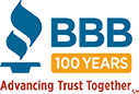 BBB 100 Years Anniversary Torch Logo